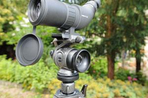 Stativset für spektive für vogelbeobachtung und ornithologen